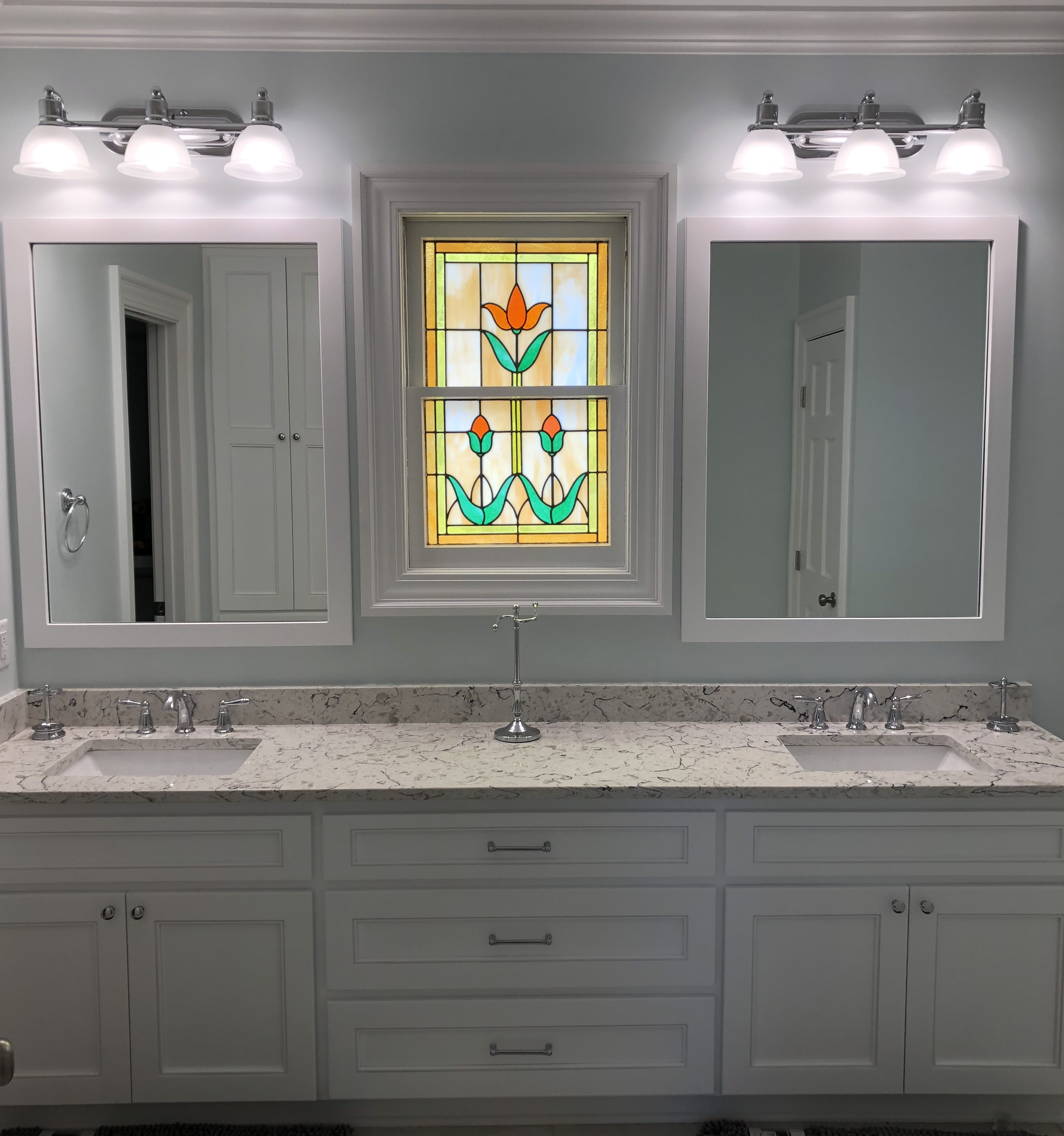 custom mirror bathroom remodel lexington sc columbia sc
